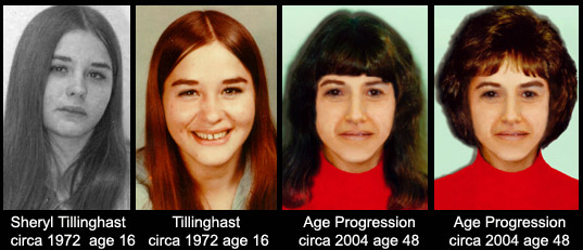 Photos of Missing Person Sheryl Tillinghast