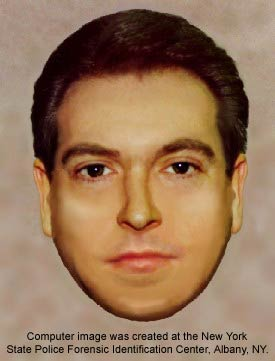 Computer image was created at the New York State Police Forensic Identification Center, Albany, NY.
