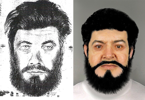 Composite drawing and Computer Image of Unidentified Person
