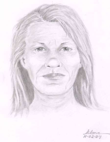 Sketch of unidentified person