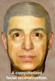 A computerized facial reconstruction.