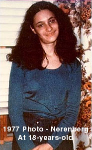 1977 photo of Audrey Lyn Nerenberg at age 18